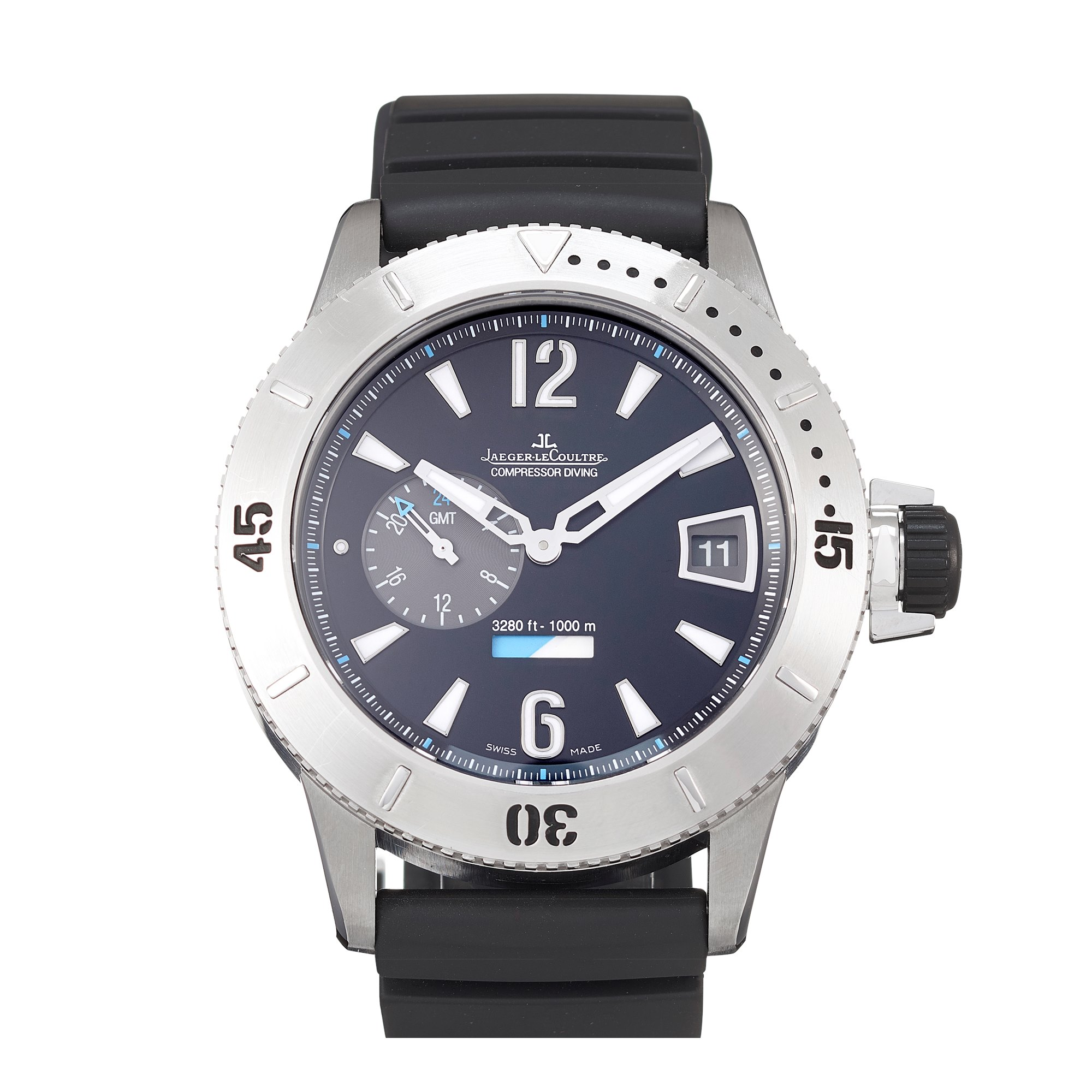 Jaeger-LeCoultre Master Compressor Diving GMT Stainless Steel 159.T.05