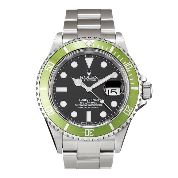 "Rolex Submariner Date ""Flat Four"" Stainless Steel - 16610LV"
