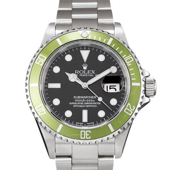 """Rolex Submariner Date """"Flat Four"""" Stainless Steel - 16610LV"""