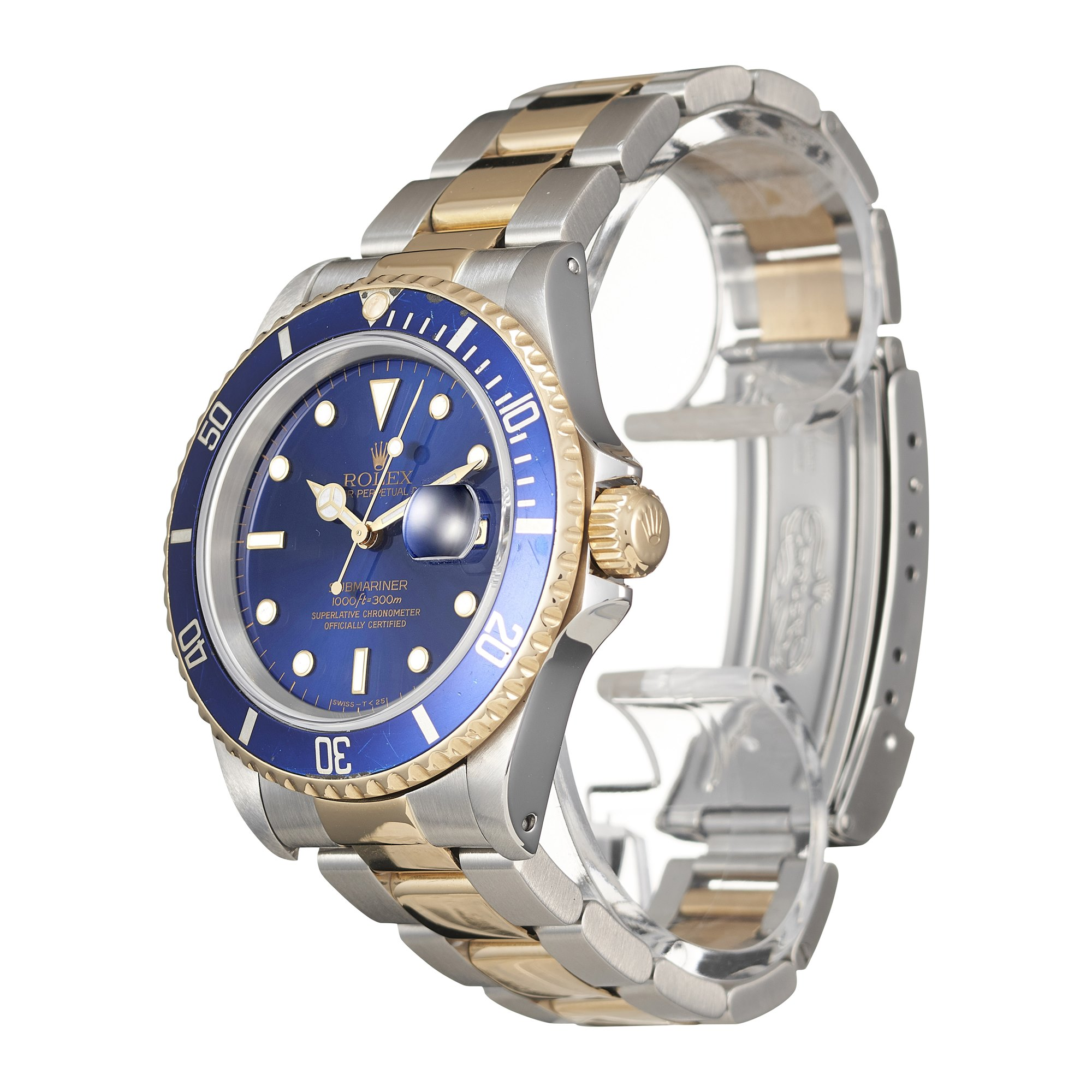 Rolex Submariner Date Stainless Steel & Yellow Gold 16613