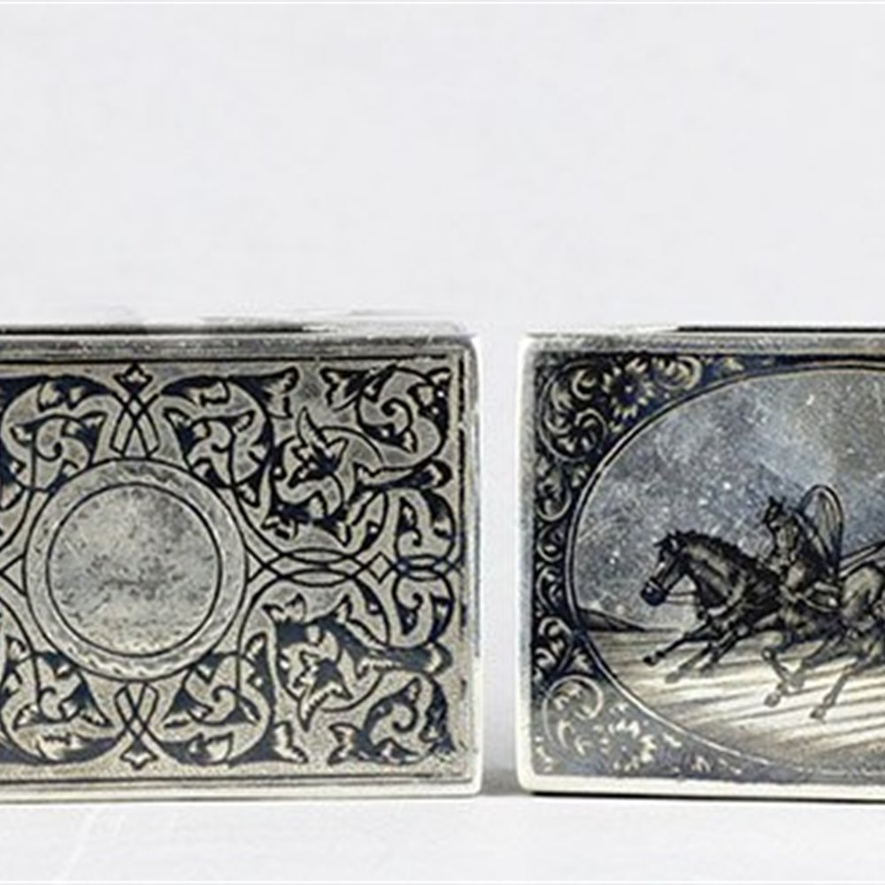 RUSSIAN SILVER MATCH BOX COVER Made between 1899 and 1908