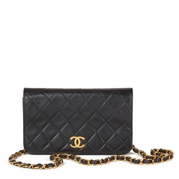 Chanel Black Lambskin Vintage Mini Flap Bag
