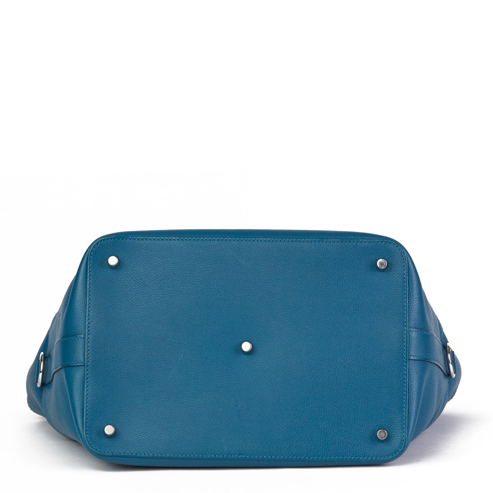 Hermès Blue Izmir Evercolour Leather Toolbox 26cm