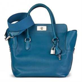 Hermès Blue Izmir Evercolour Leather Toolbox 26cm