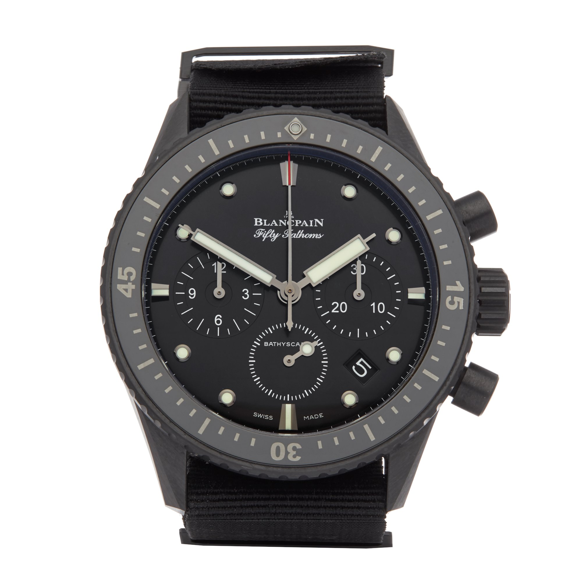 Blancpain Fifty Fathoms Bathyscaphe Flyback Chronograph Ceramic 5200-0130-B52A