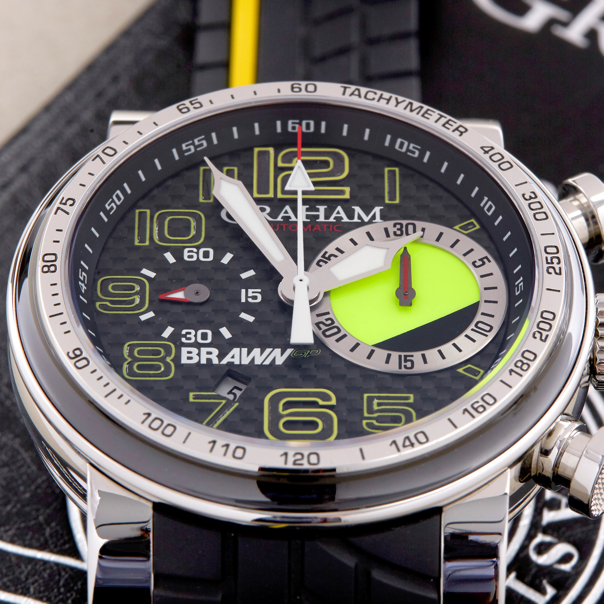 Graham Trackmaster Braun GP Year One Limited Edition Stainless Steel 2BRYO.B05A.K66N