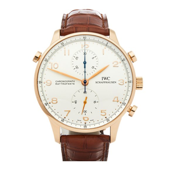 IWC Portuguese Split Seconds Chronograph 18K Yellow Gold - IW371402