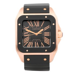 Cartier Santos 100 XL Rose Gold - W20124U2 or 2792