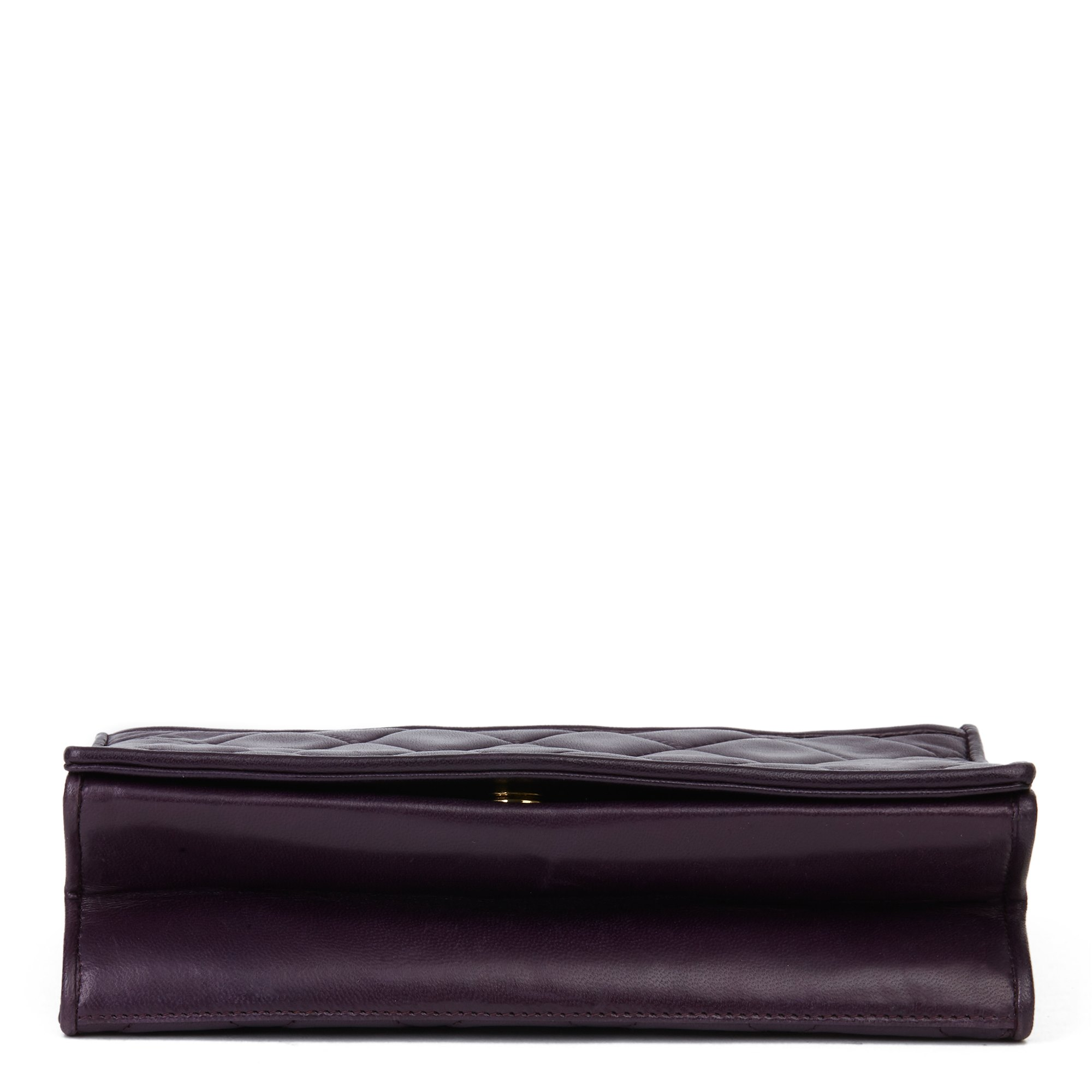 Chanel Purple Lambskin Vintage Timeless Single Flap Bag