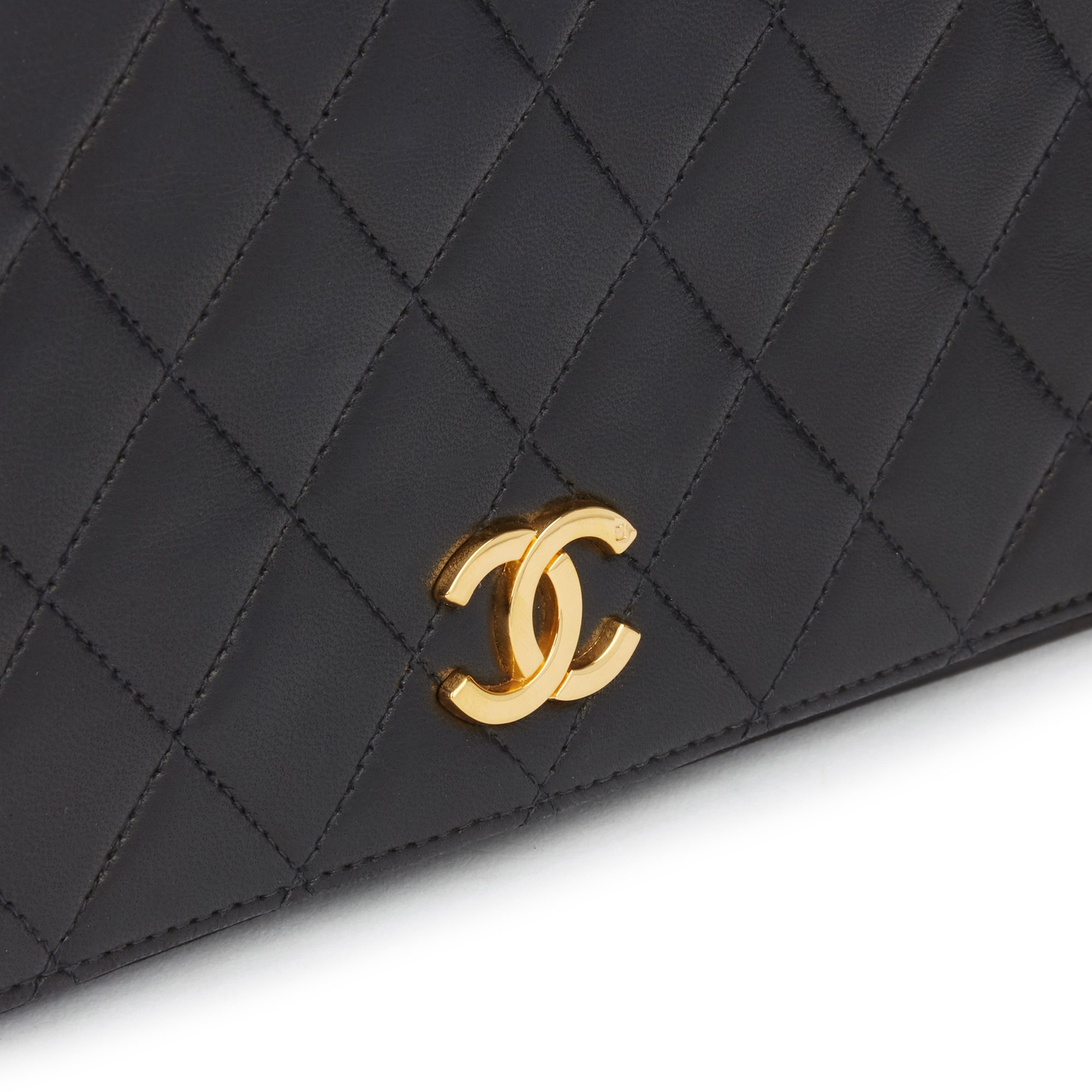 Chanel Black Lambskin Vintage Small Classic Single Full Flap Bag