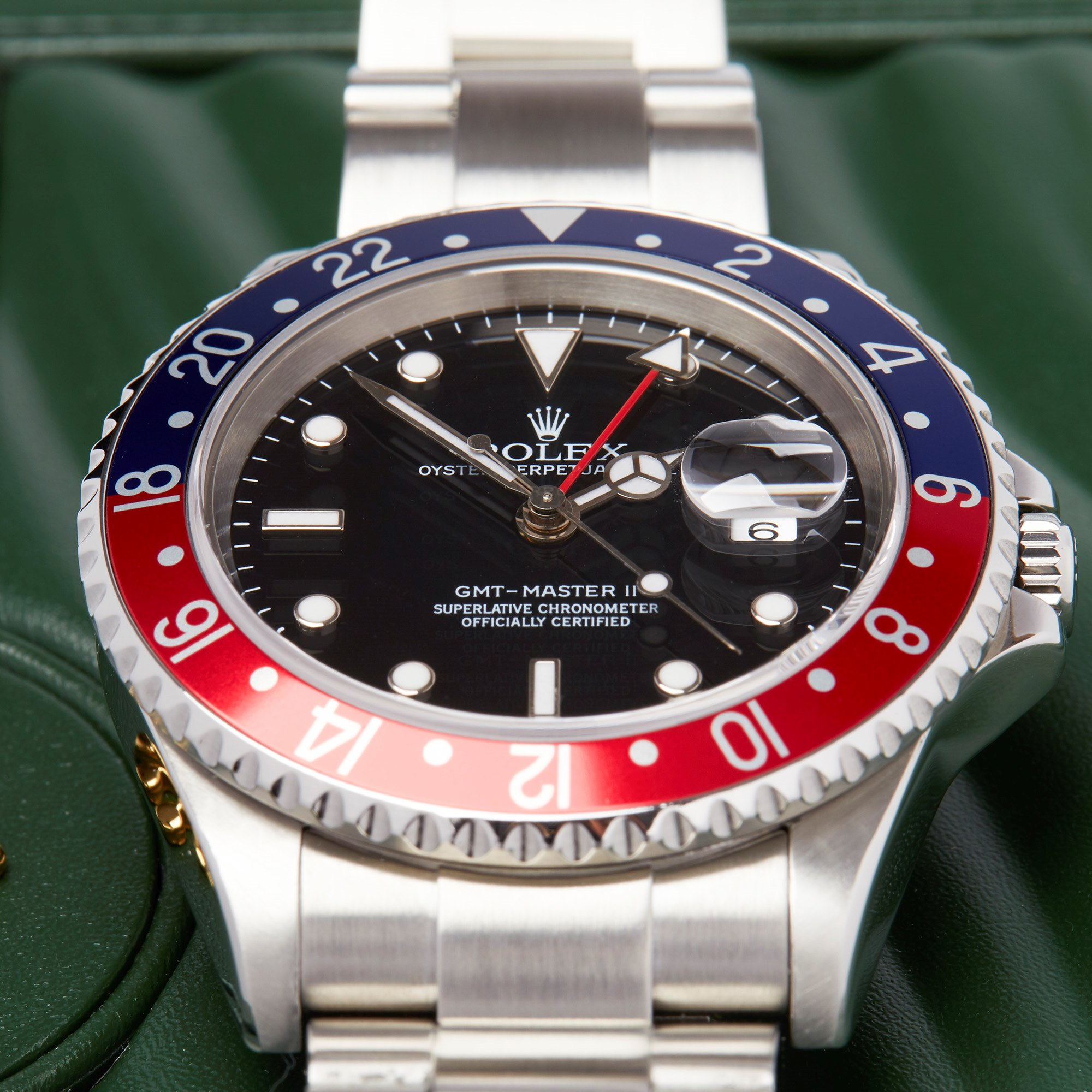 Rolex GMT-Master II Stick Dial Pepsi Stainless Steel 16710