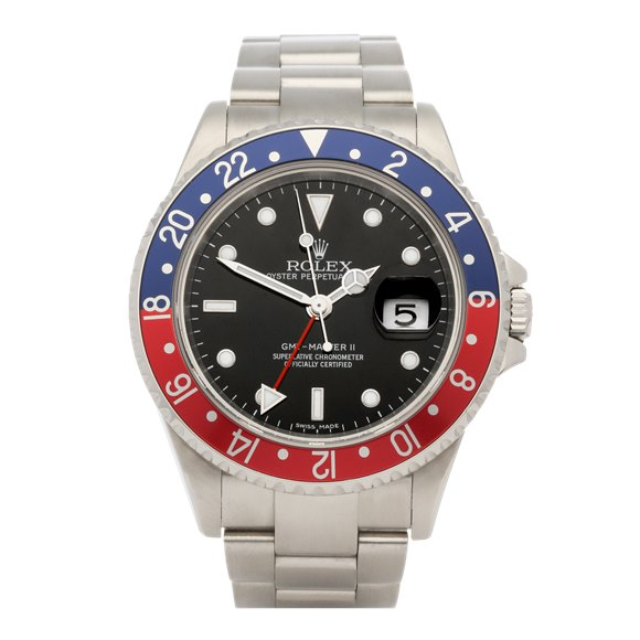Rolex GMT-Master II Stick Dial Pepsi Stainless Steel - 16710