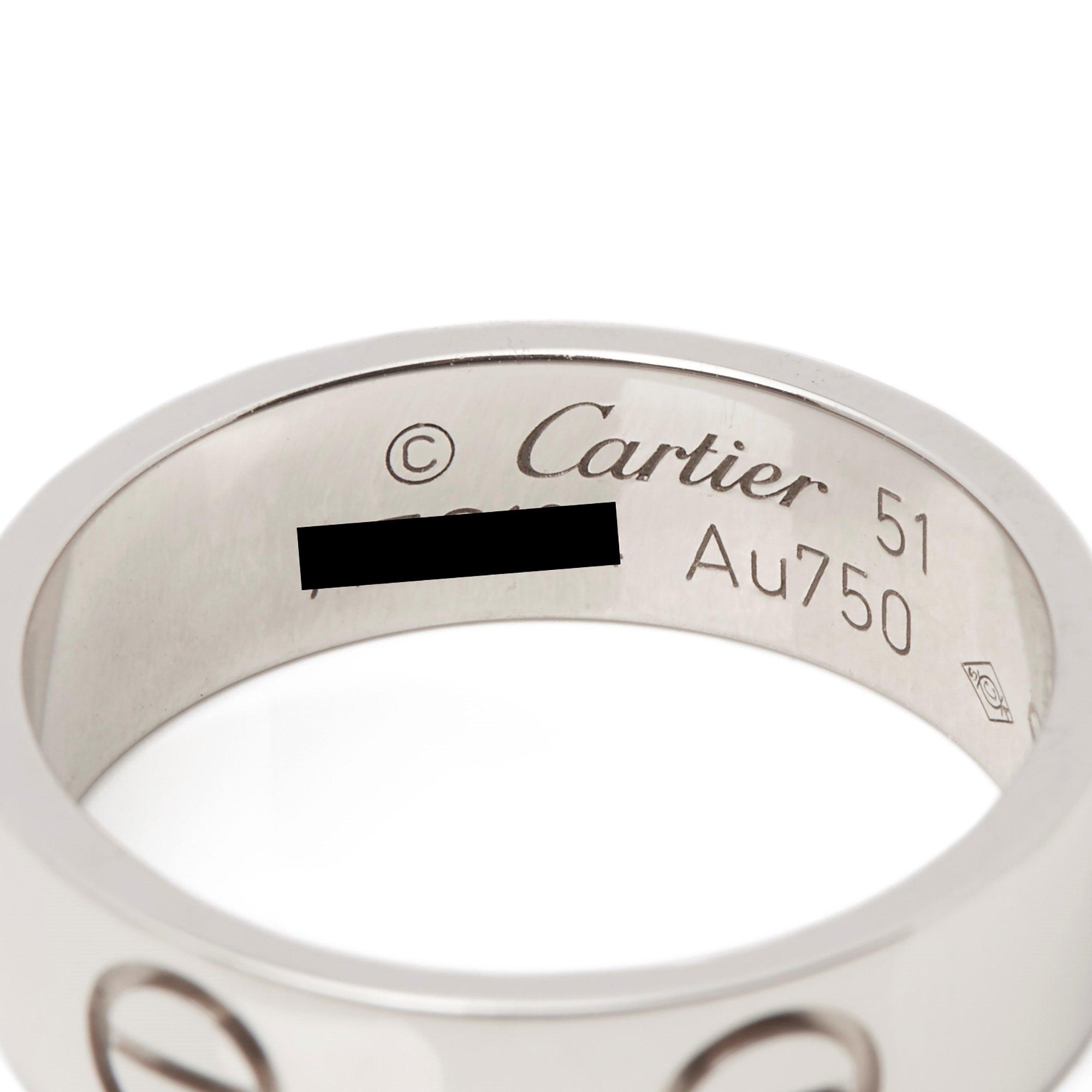 Cartier Love 18k White Gold Ring