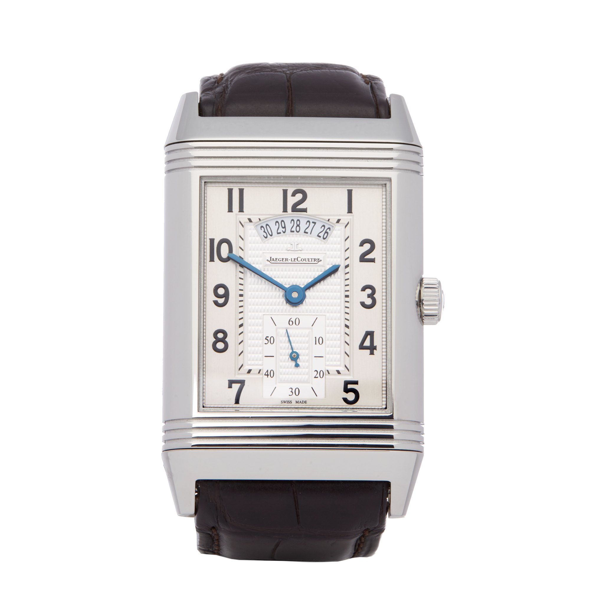 Jaeger-LeCoultre Grande Reverso 986 Duo Night & Day Stainless Steel Q3748421 or 273.8.85