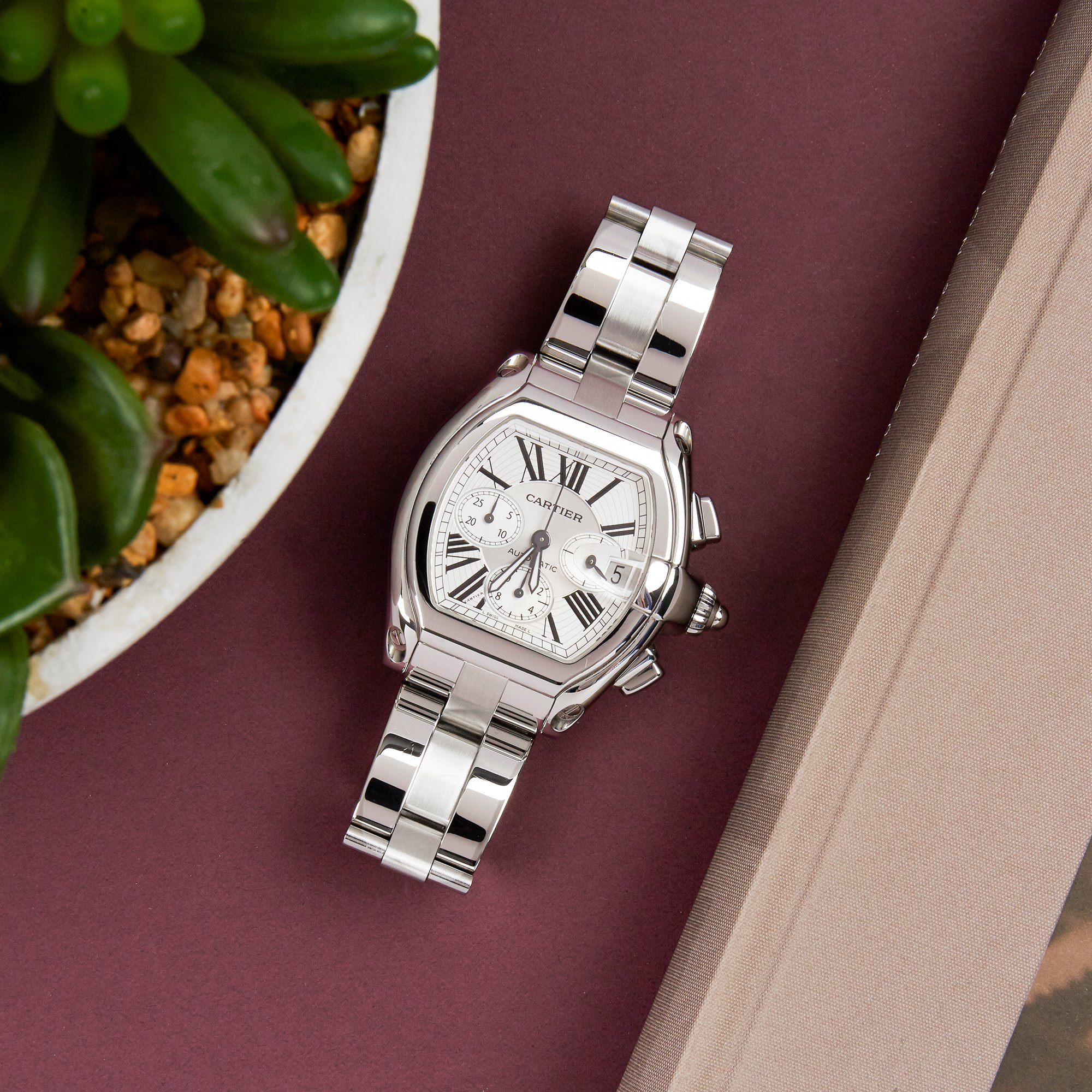 Cartier Roadster Chronograph Stainless Steel 2618 or W62019X6