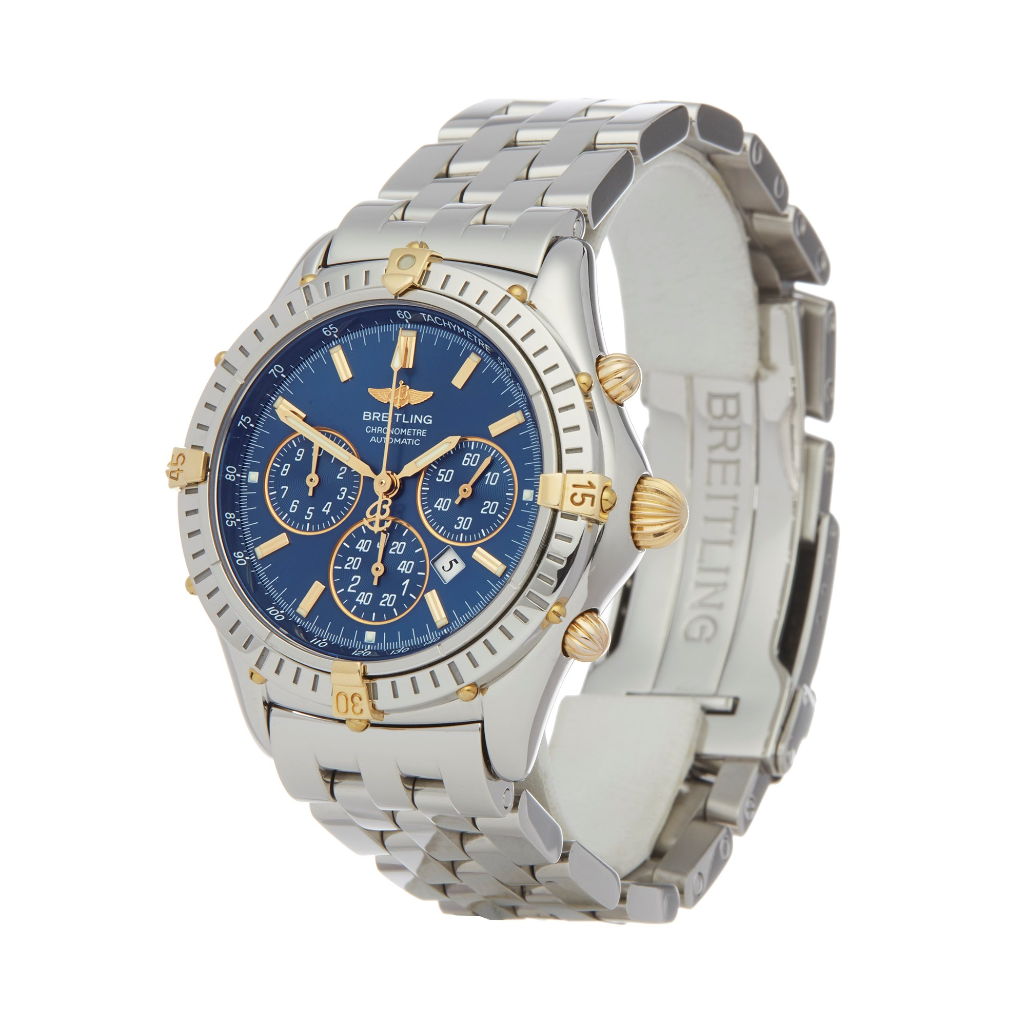 Breitling Shadow Flyback Chronograph Limited Edition Stainless Steel & Yellow Gold B35312