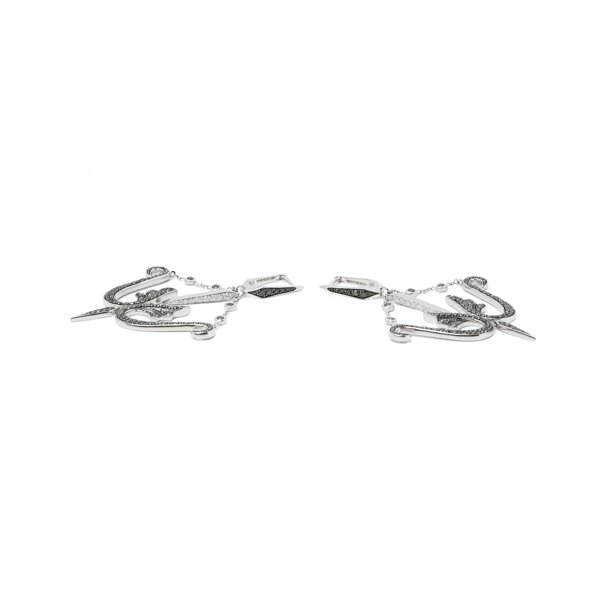 Stephen Webster Jewels Verne 18ct White Gold Diamond Drop Earring