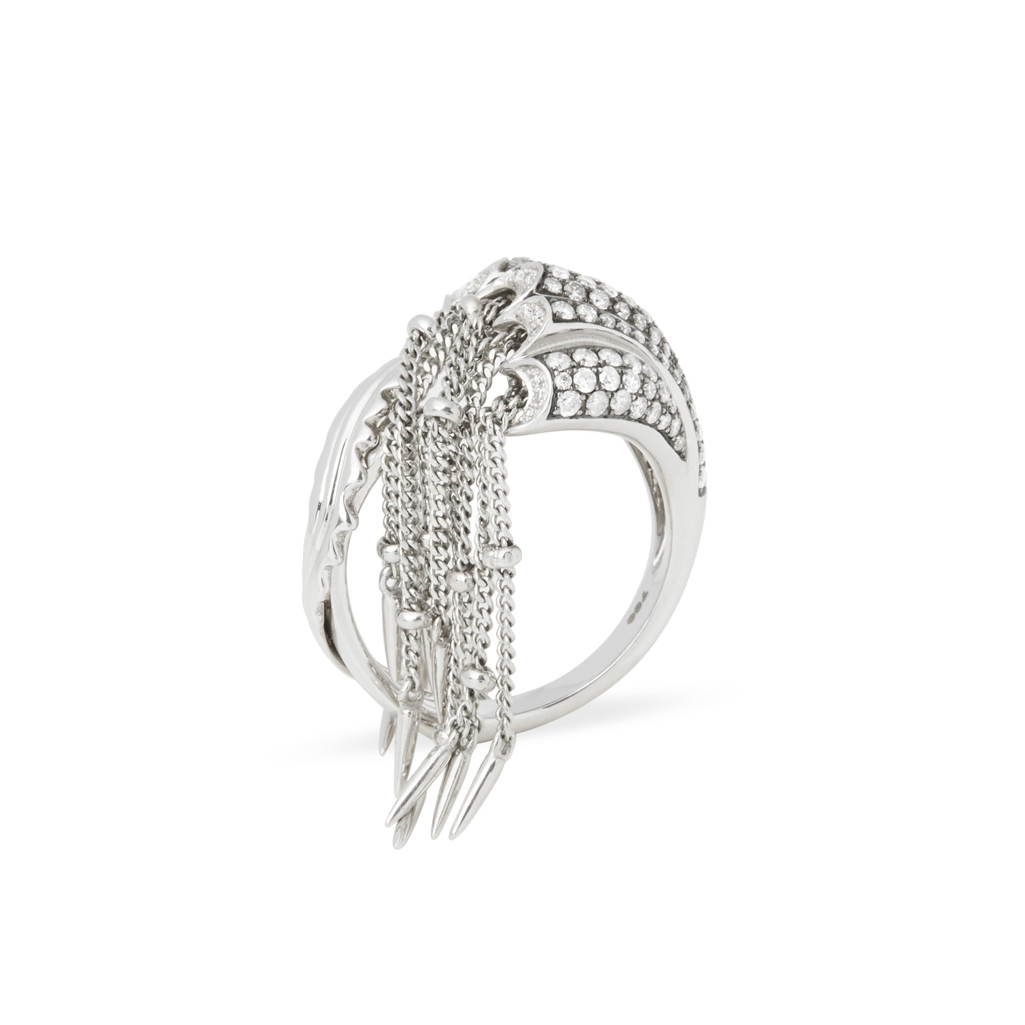 Stephen Webster Jewels Verne 18ct White Gold Jelly Fish Diamond Ring