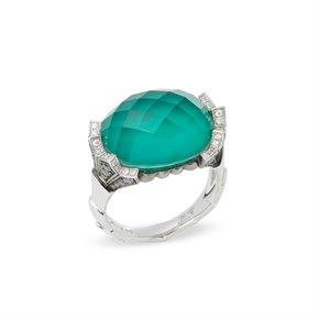 Stephen Webster Jewels Verne 18ct White Gold Crystal Haze Fan Ring