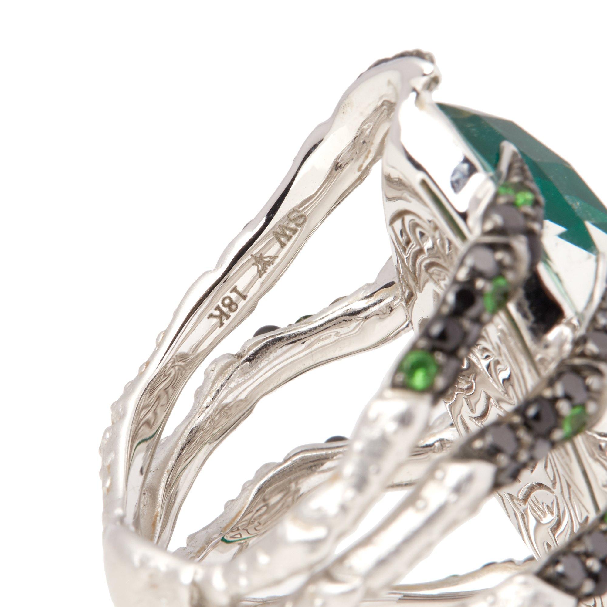 Stephen Webster Jewels Verne 18ct White Gold Spider Crab Crystal Haze Ring