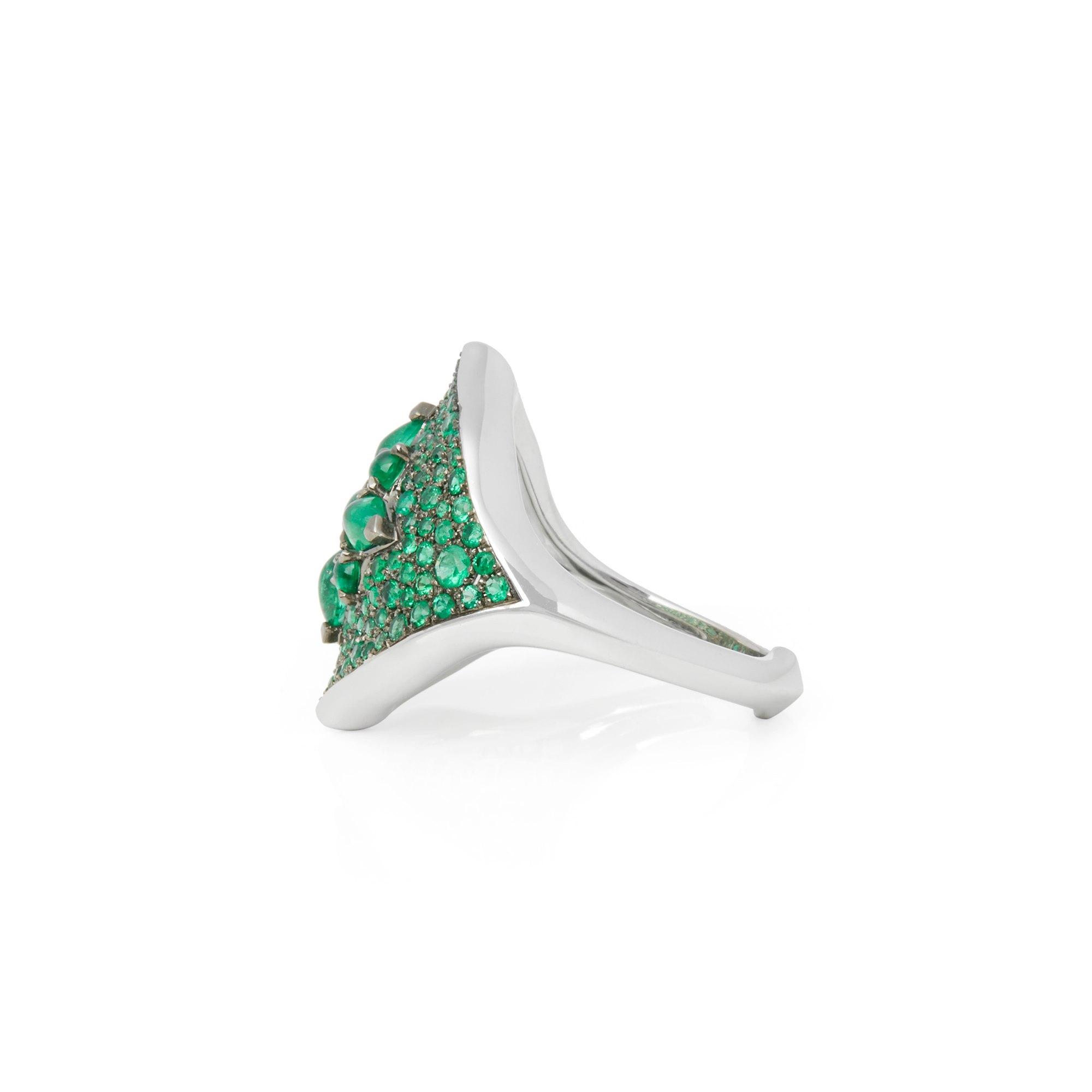 Stephen Webster Belle Epoque 18ct White Gold Emerald Ring