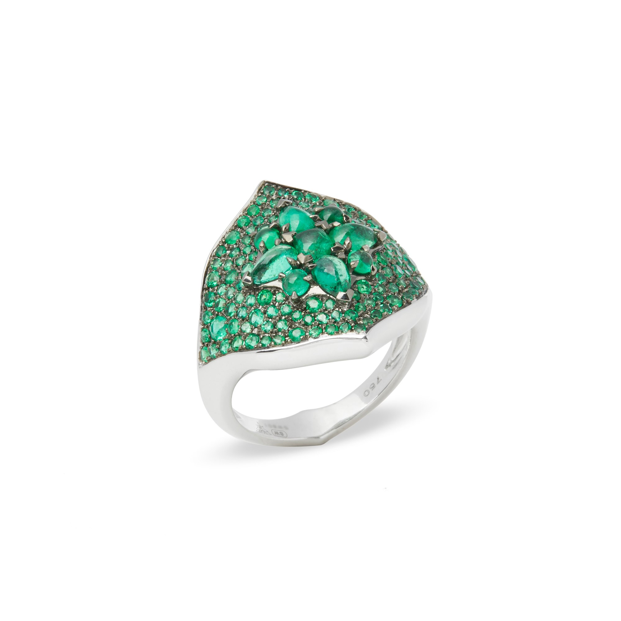 Stephen Webster Belle Epoque 18ct White Gold Emerald Ring