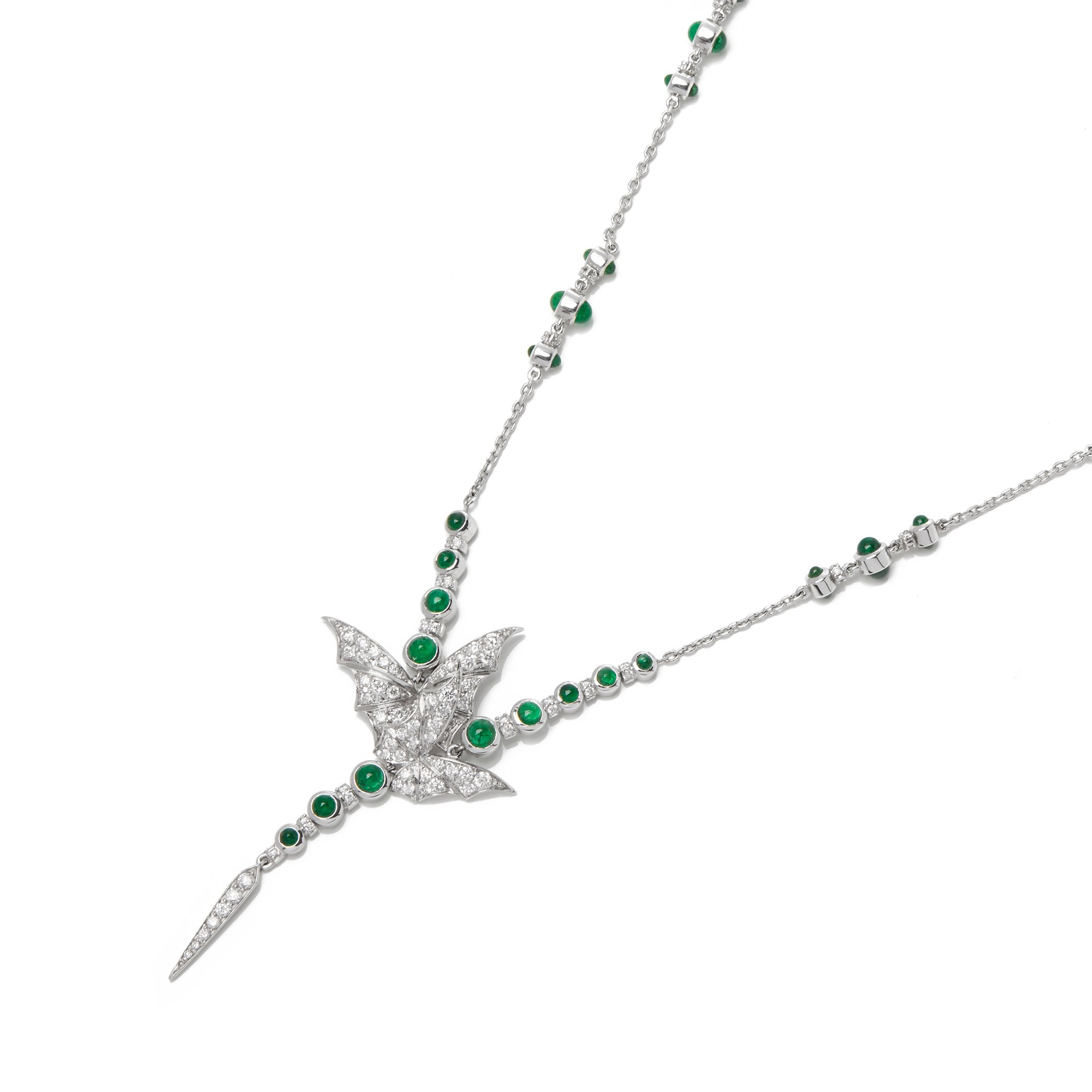Stephen Webster Fly by Night 18ct Gold Diamond and Emerald necklace