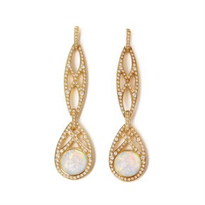 Stephen Webster Love haze 18ct Yellow Gold Diamond and Quartz Drop Earring