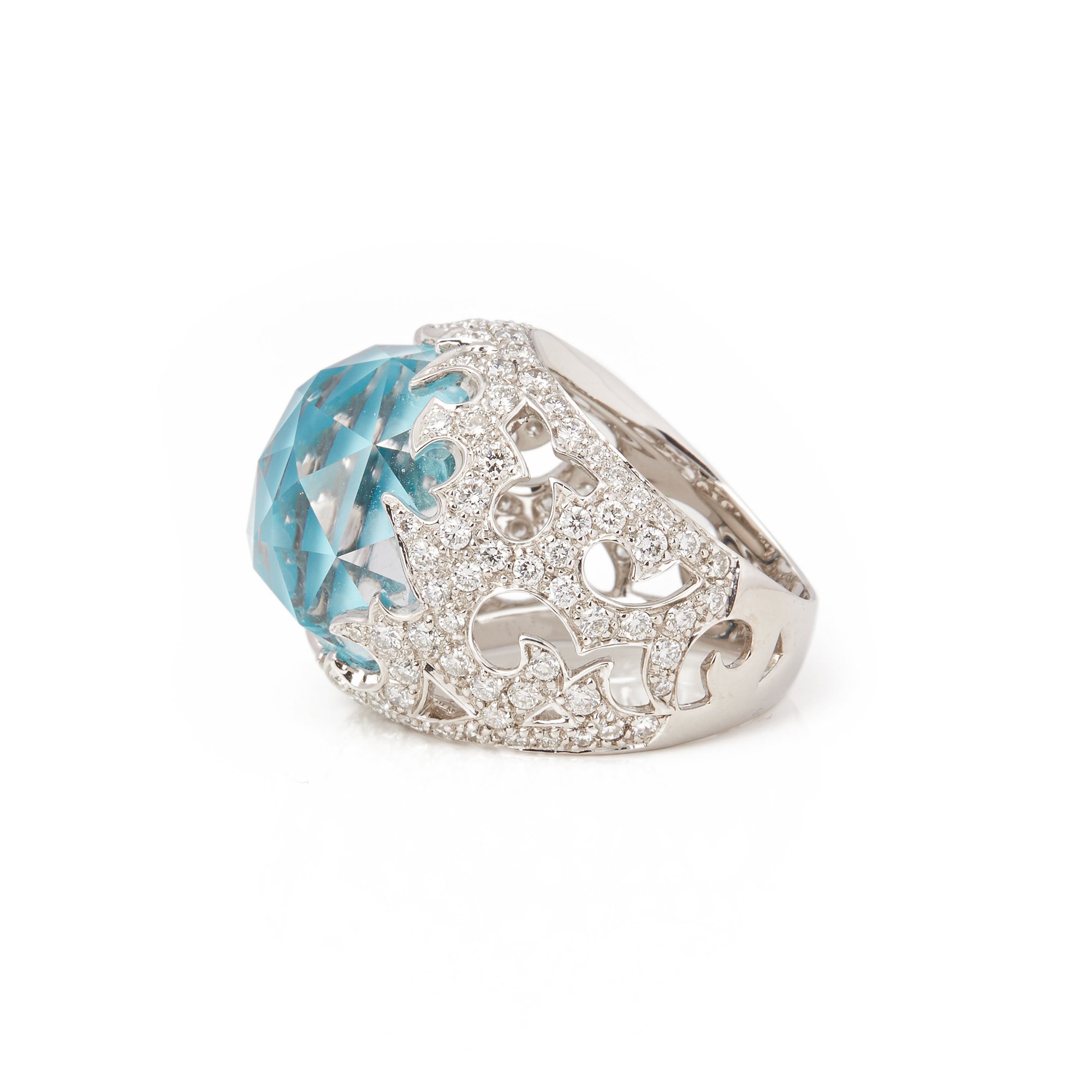 Stephen Webster Borneo lipstick 18ct White Gold Crystal Haze and Diamond Ring