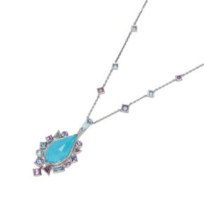 Stephen Webster Crystal haze 18ct White Gold Gold Struck Turquoise Pendant