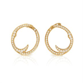 Stephen Webster Thorn 18ct Yellow Gold Pave Diamond Earrings