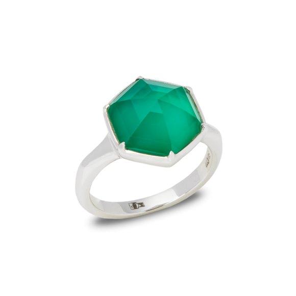 Stephen Webster Deco Haze 18ct White Gold Green Agate Quartz Ring