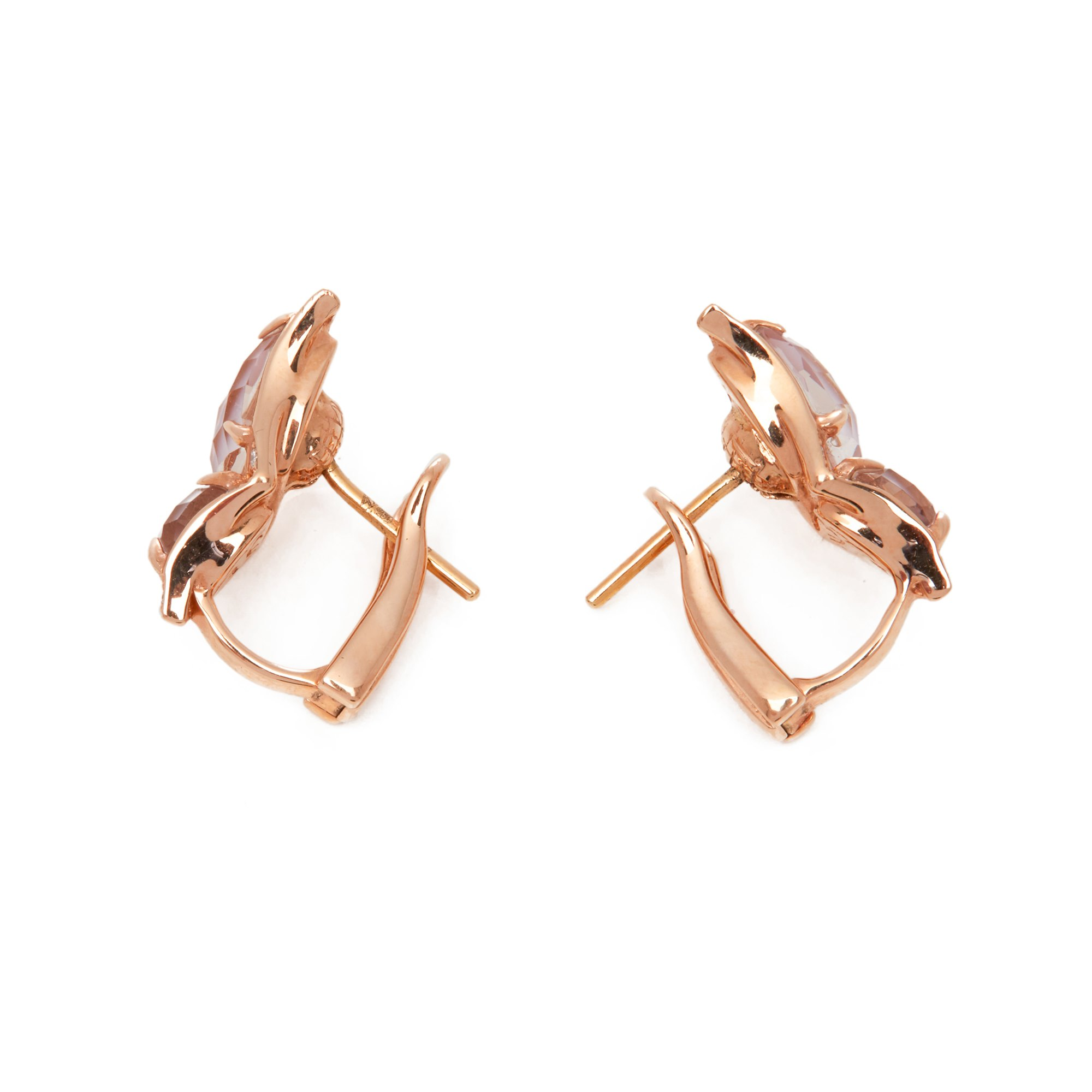 Stephen Webster Fly by night 18ct Rose Gold Rose Quartz Crystal Haze Earrings