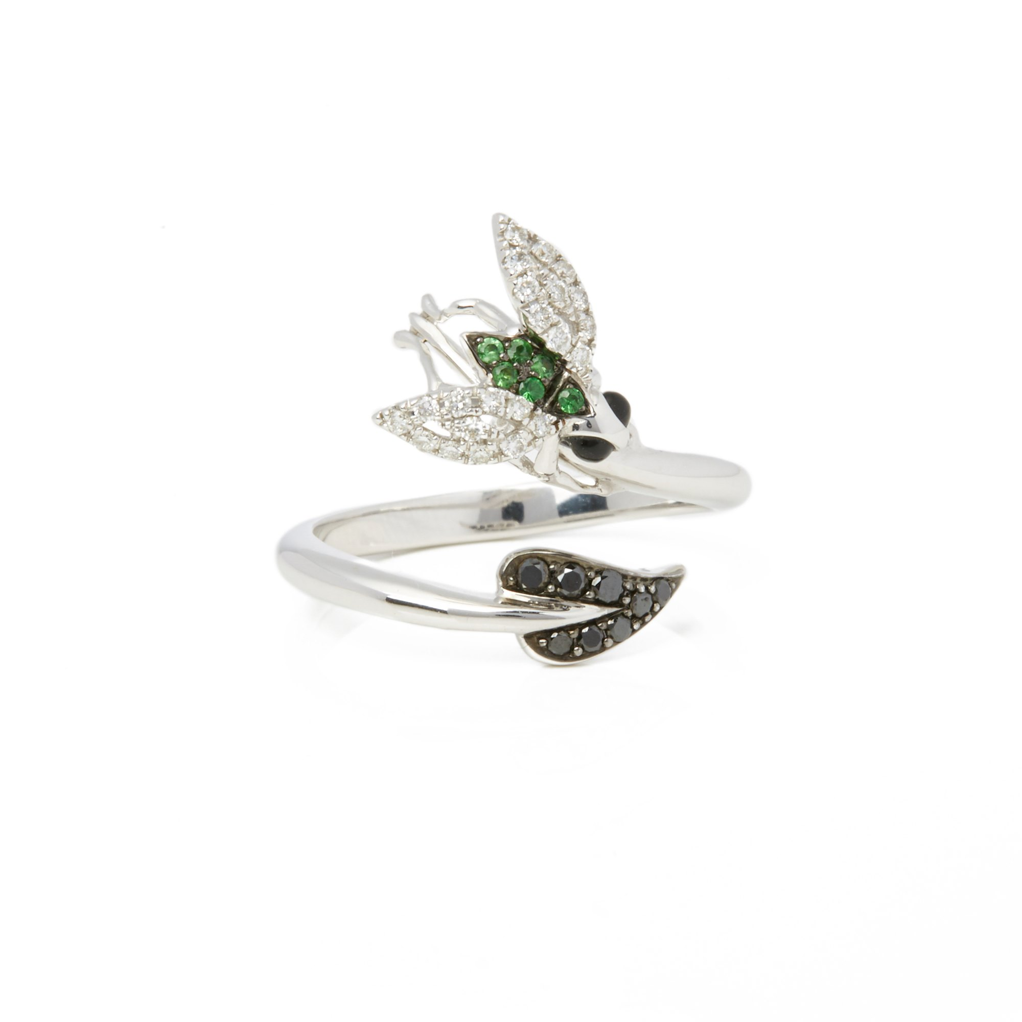 Stephen Webster Fly by NIght 18ct White Gold Tsavorite and Diamond Ring