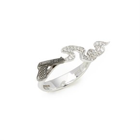 Stephen Webster Murder she wrote 18ct White Gold Smoking Gun Diamond Ring