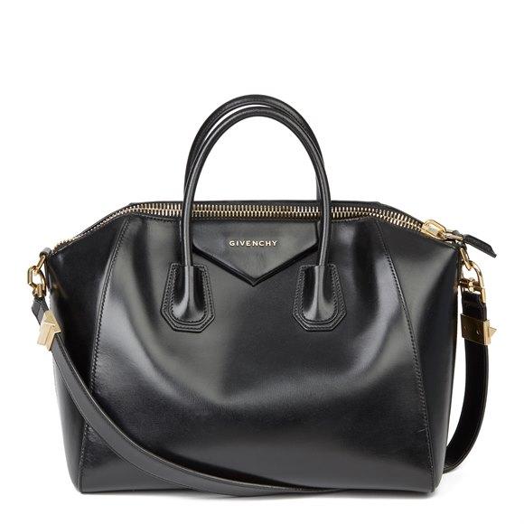 Givenchy Black Smooth Calfskin Leather Medium Antigona