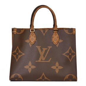 Louis Vuitton Brown Monogram Coated Canvas Reverso Onthego MM