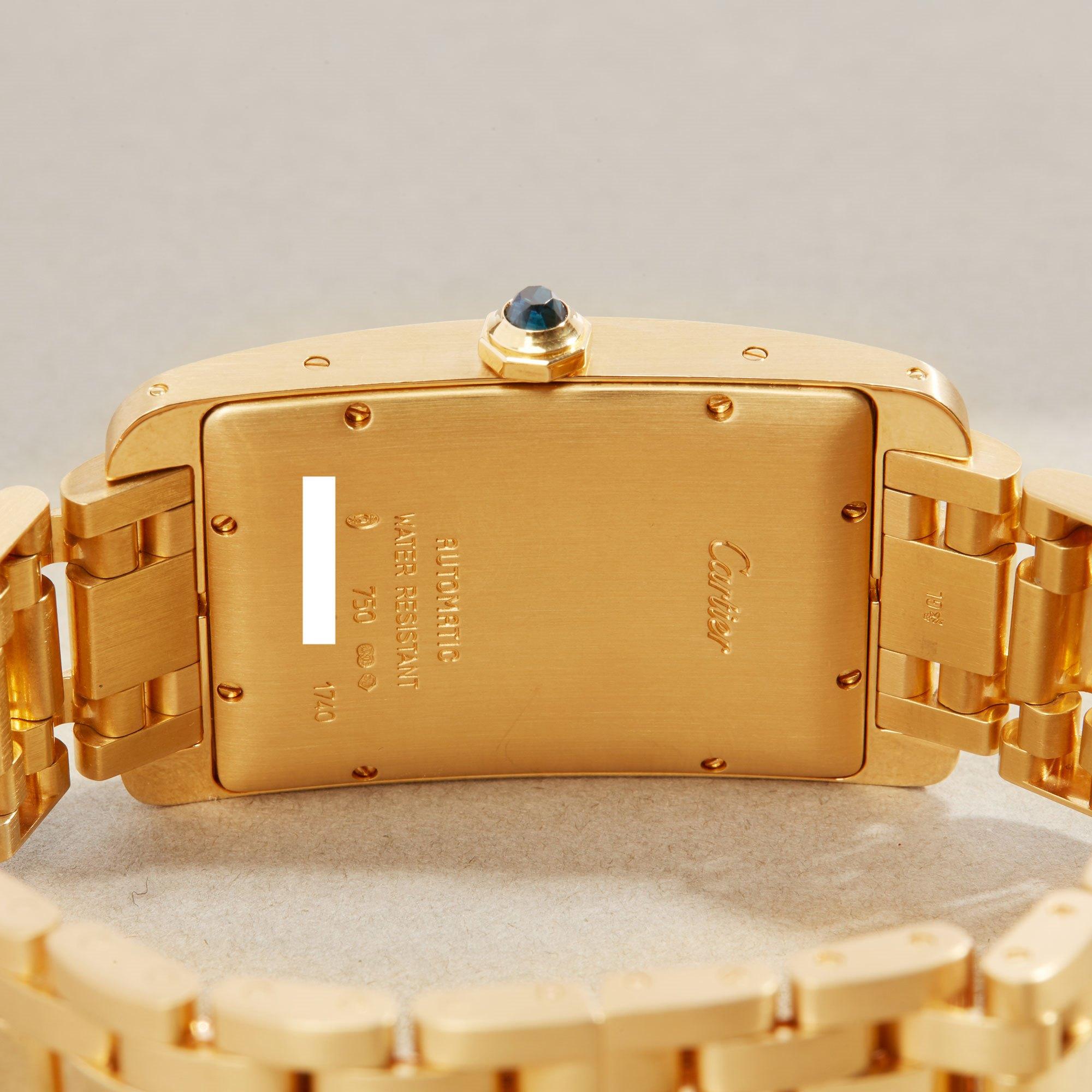 Cartier Tank Americaine XL 18K Yellow Gold 1740