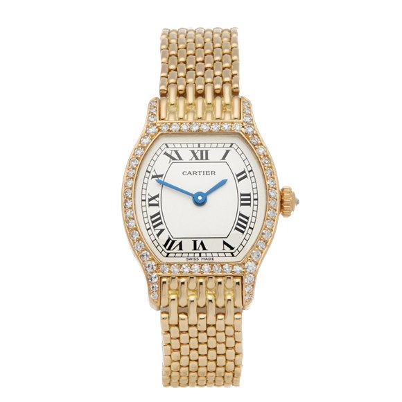 Cartier Tortue Paris Factory Diamonds 18K Yellow Gold