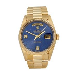 Rolex Day-Date 36 Lapis Lazuli Diamond Unpolished 18K Yellow Gold - 18238