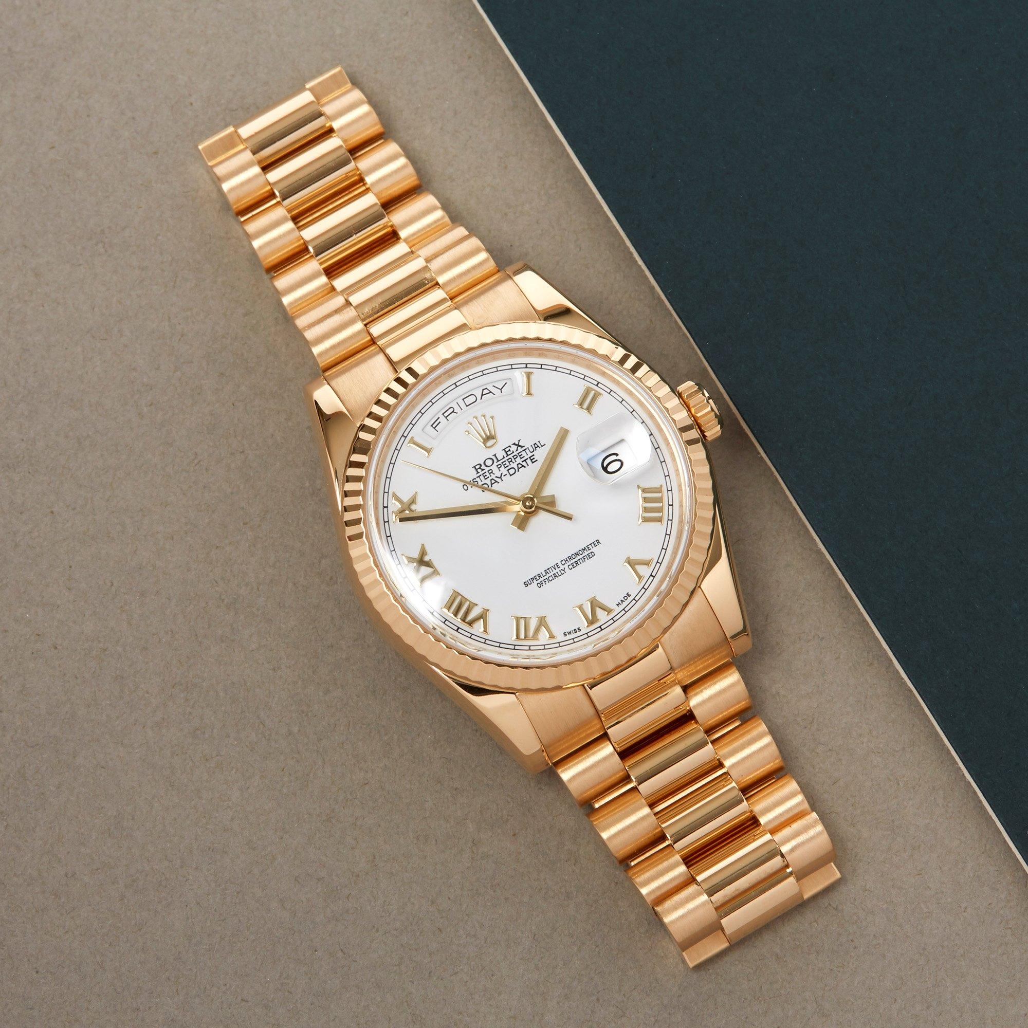 Rolex Day-Date 36 18K Geel Goud 118238