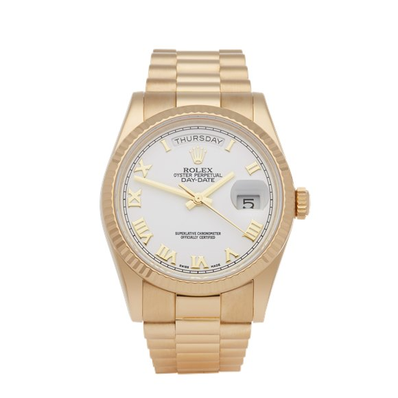 Rolex Day-Date 36 18K Yellow Gold - 118238
