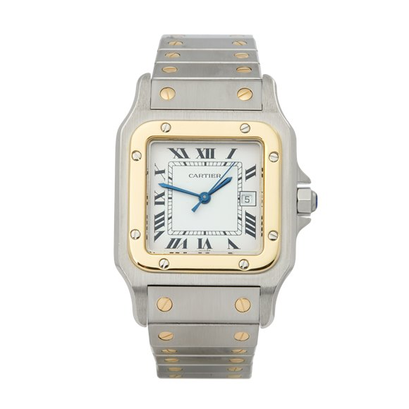 Cartier Santos Galbee Automatique Stainless Steel & Yellow Gold - 2961