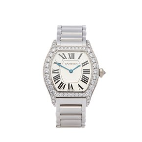 Cartier Tortue Factory Diamond 18K White Gold - WA5072W9 or 2644