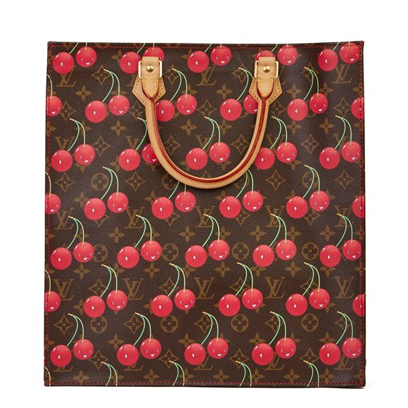 Louis Vuitton Cherries Brown Monogram Coated Canvas Murakami Sac Plat