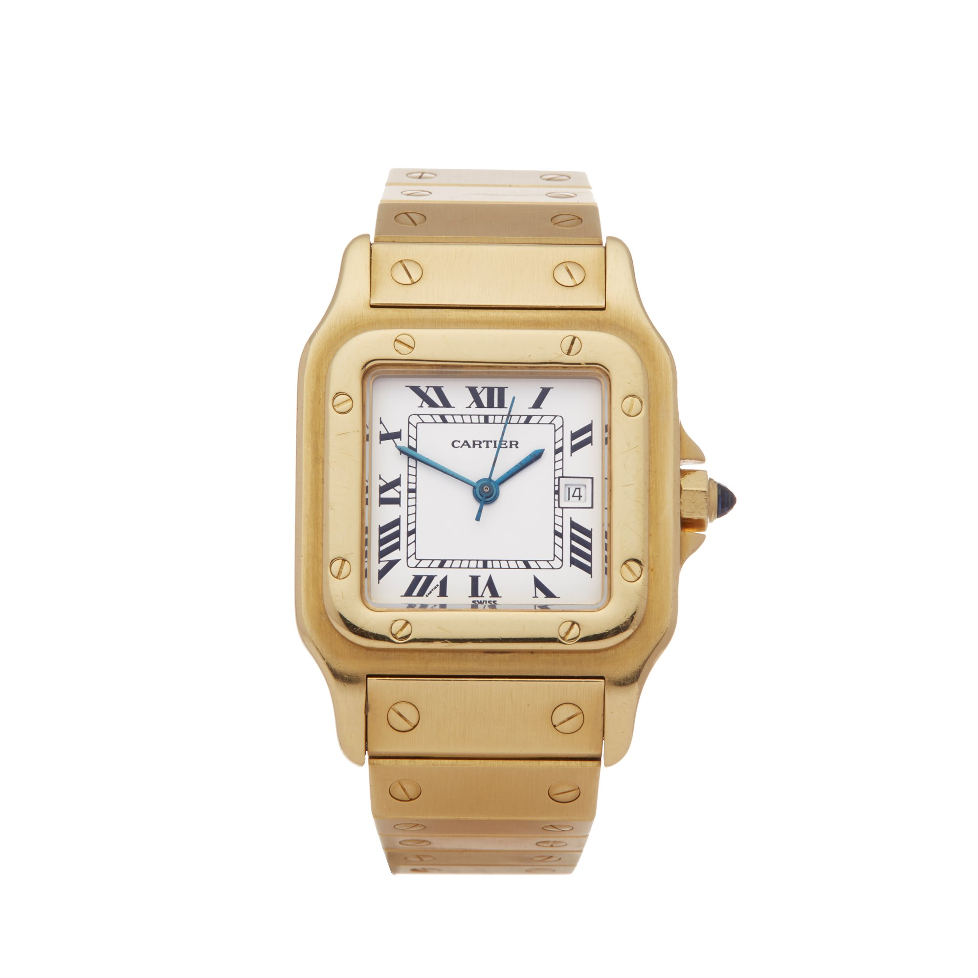 Cartier Santos Galbee Automatique Large 18K Yellow Gold