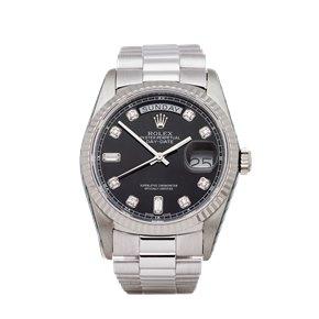 Rolex Day-Date 36 Diamond 18K White Gold - 18239