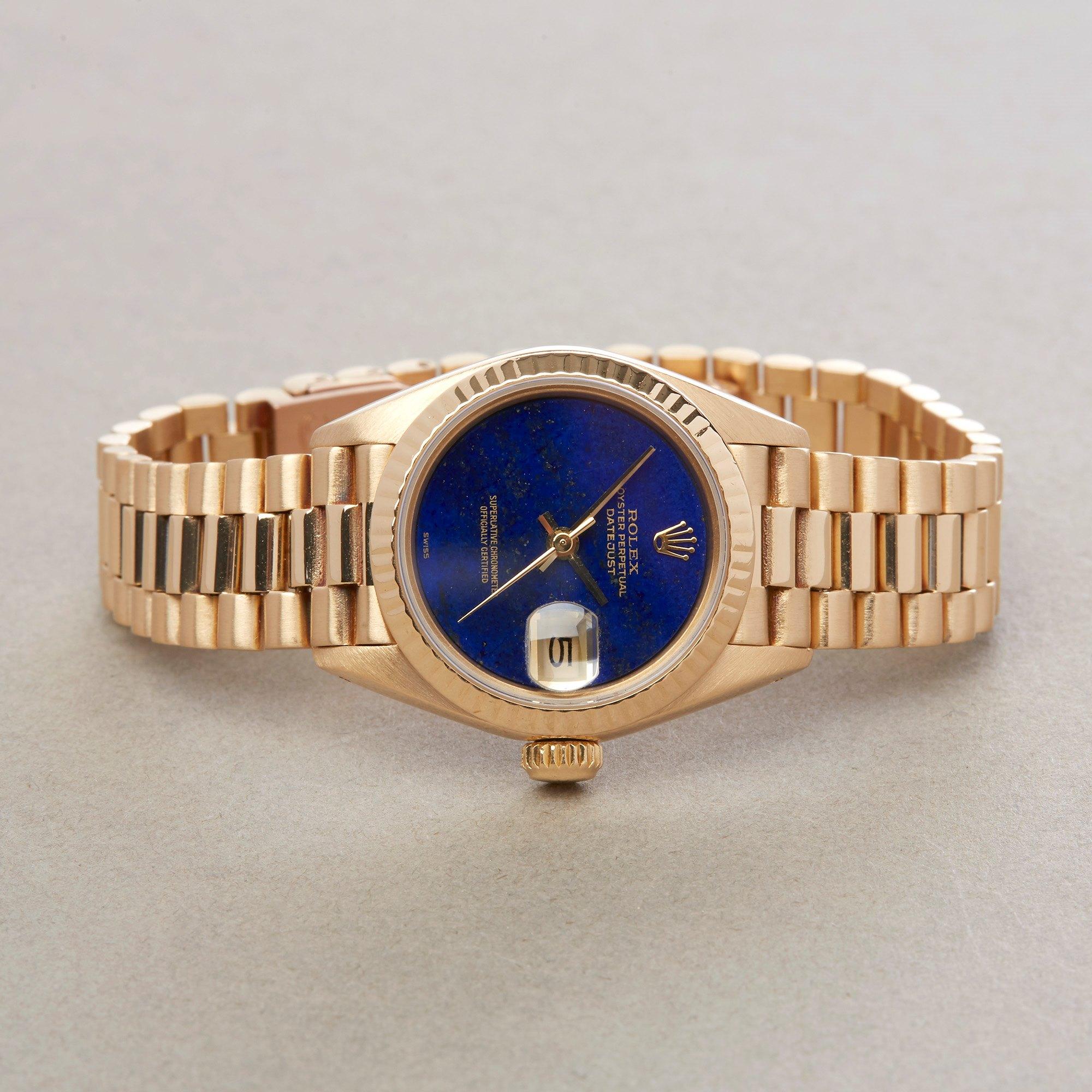 Rolex Datejust 26 Lapis Lazuli 18K Yellow Gold 69178