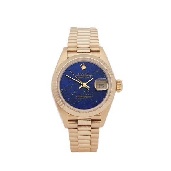 Rolex Datejust 26 Lapis Lazuli 18K Yellow Gold - 69178