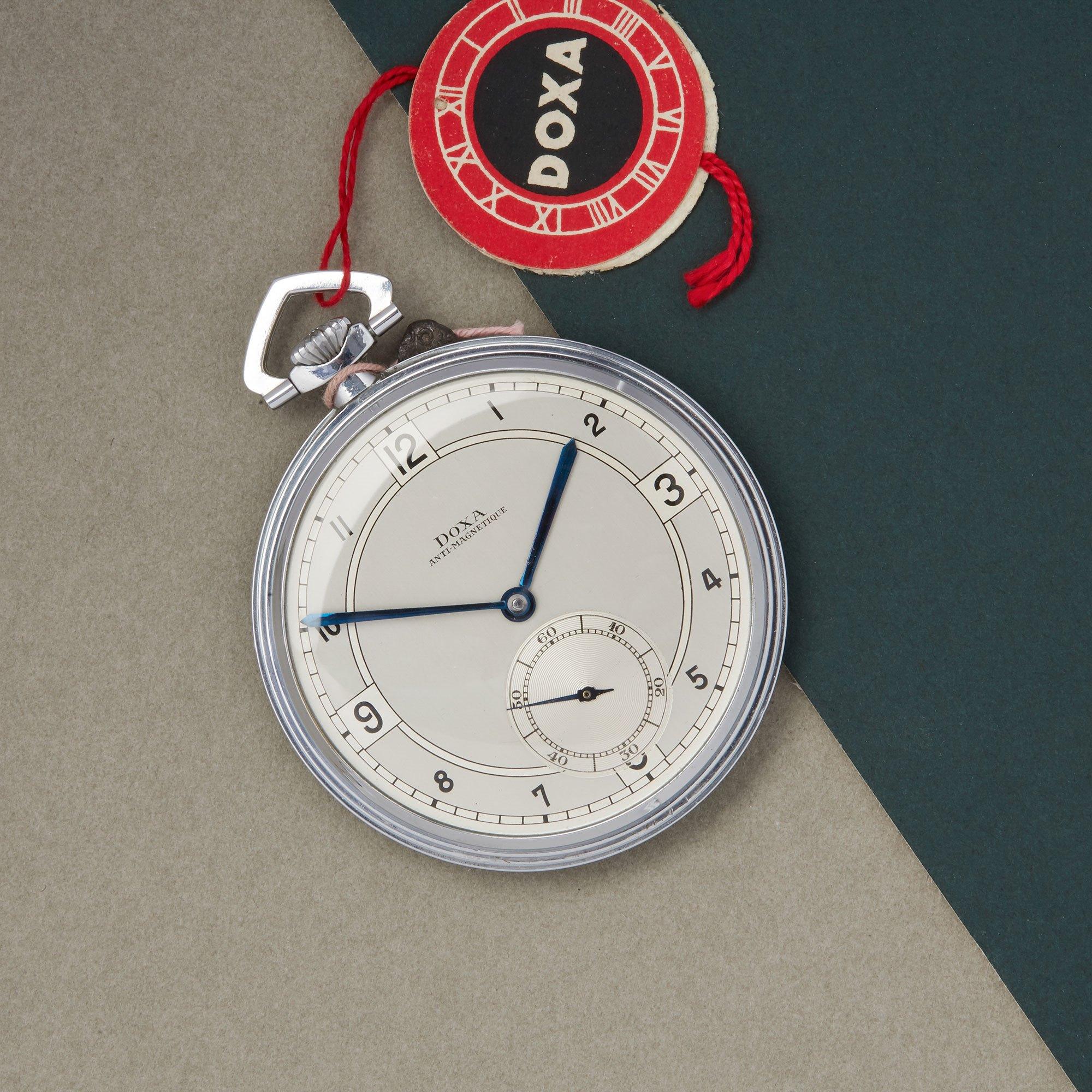 Doxa Pocket Watch NOS Stainless Steel